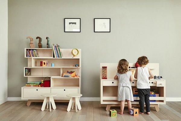 Muebles infantiles con diseño simple