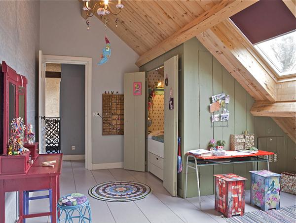 Dormitorios infantiles en estilo rústico
