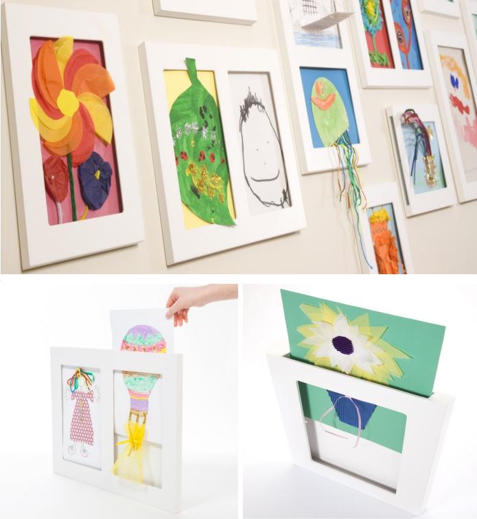 Marcos para los dibujos del cole. ¡Una galería de Arte en casa!