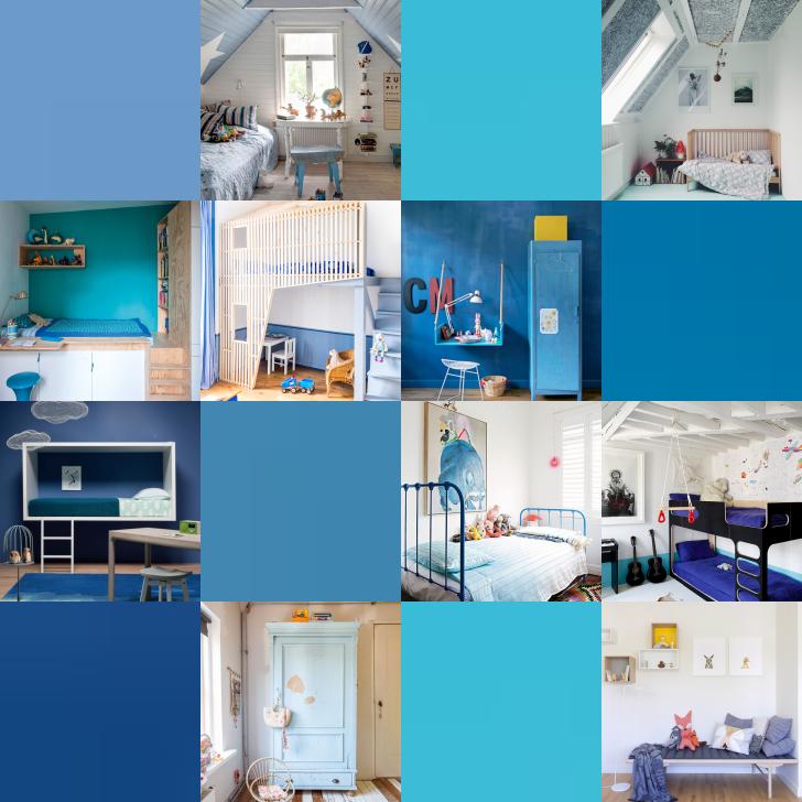 Hoy os traemos 9 Habitaciones de  Niños en color…¡Azul!