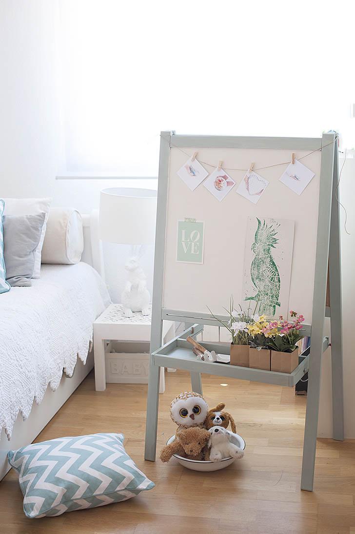 Pizarra de Ikea decorada con chalkpaint
