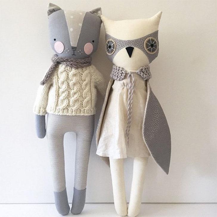 Muñecas de trapo bonitas hechas a mano