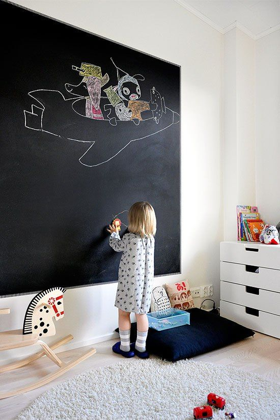 7 Pizarras gigantes para el cuarto infantil