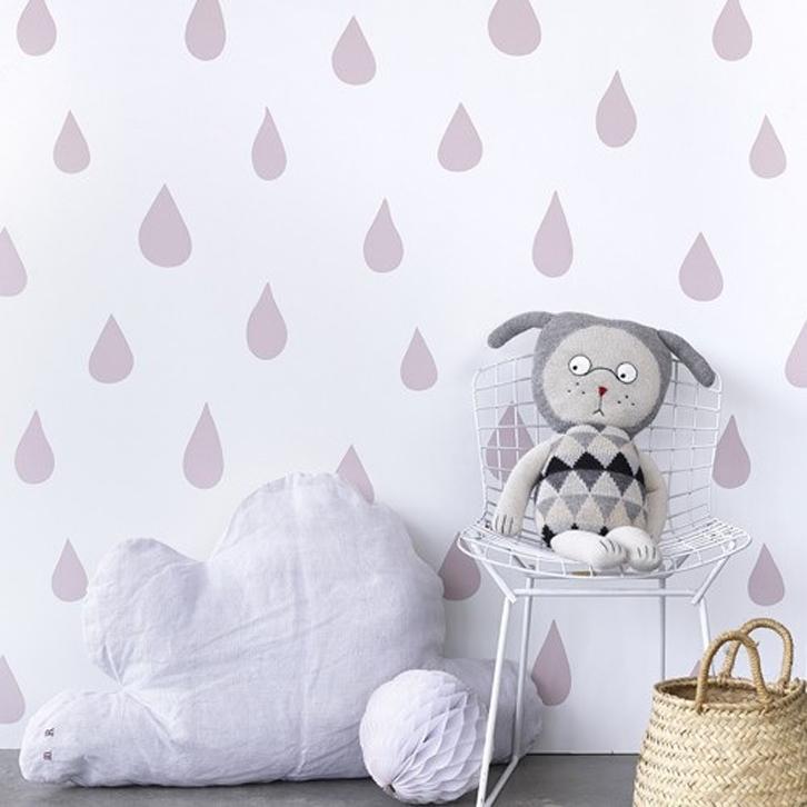 Papel pintado infantil de gotas