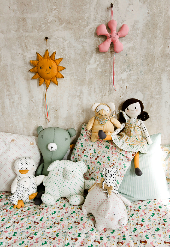 Muñecos suaves y blanditos para soñar