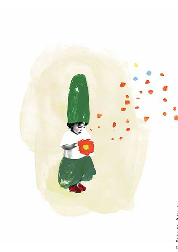 Seremini, la artista que ilustra fotos infantiles