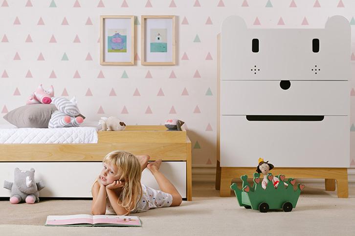 Muebles de diseño para niños con toques divertidos