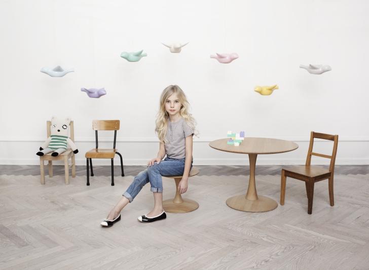 Lámparas de cerámica en forma de pájaros