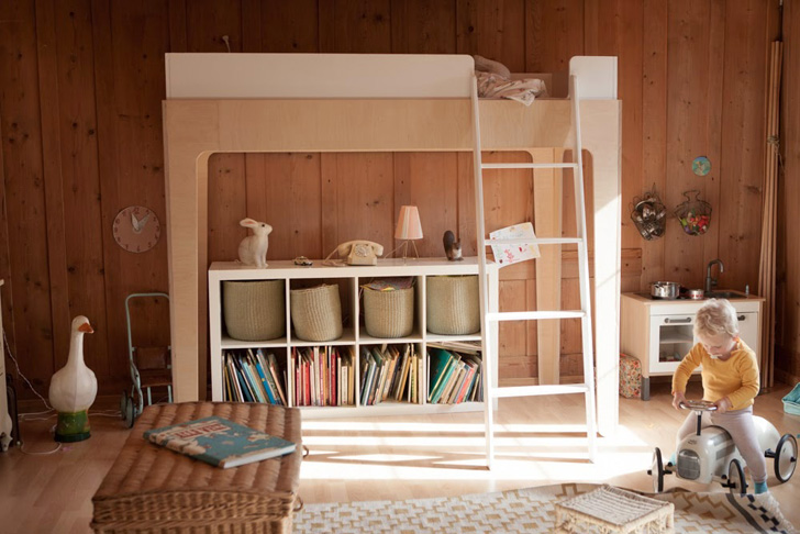 Habitación infantil con aires vintage
