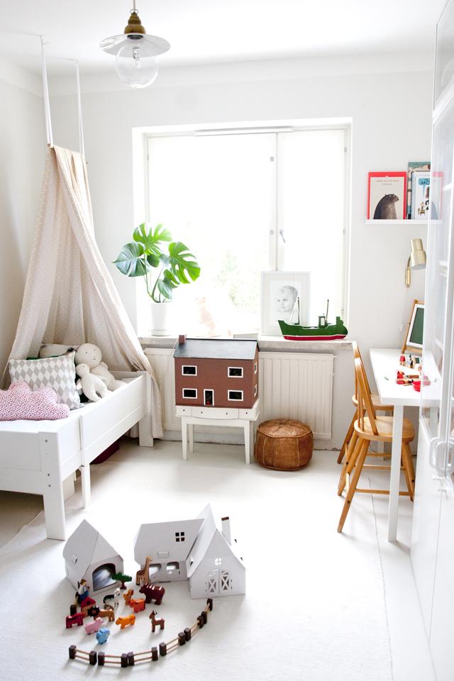 Dormitorio infantil escandinavo con toques personalizados