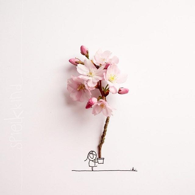 Instagram: Arte y flores
