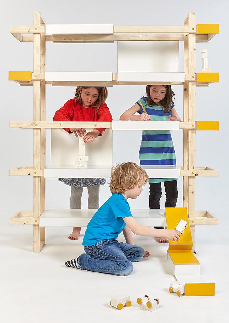 Proyecto de estudiantes para crear mobiliario infantil dinámico