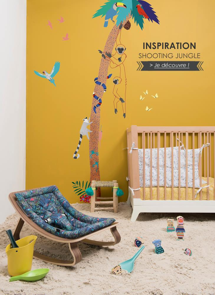 Decoración para niños inspirada en la selva