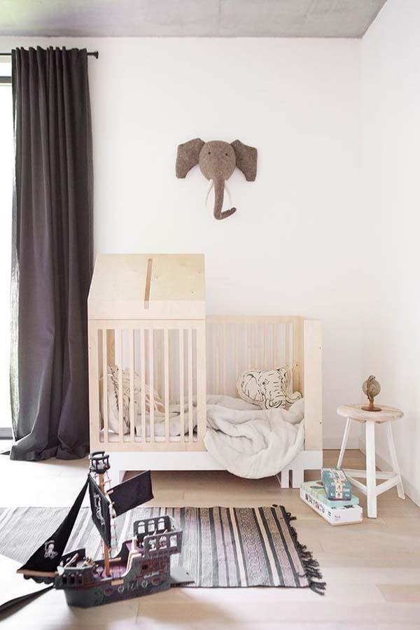 Habitaciones de bebé con el estilo más natural