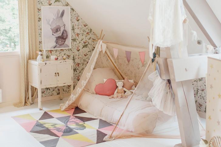 Habitación infantil para una niña con espíritu soñador
