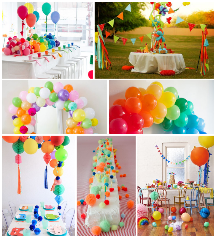 7 ideas con globos y pompones para organizar una fiesta Perfecta