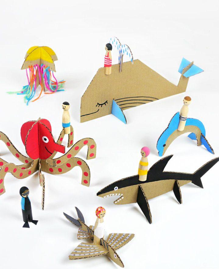 7 Manualidades infantiles inspiradas en el mar