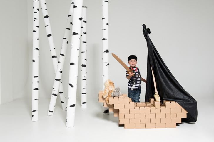 Bloques de cartón para construir ¡cualquier cosa!