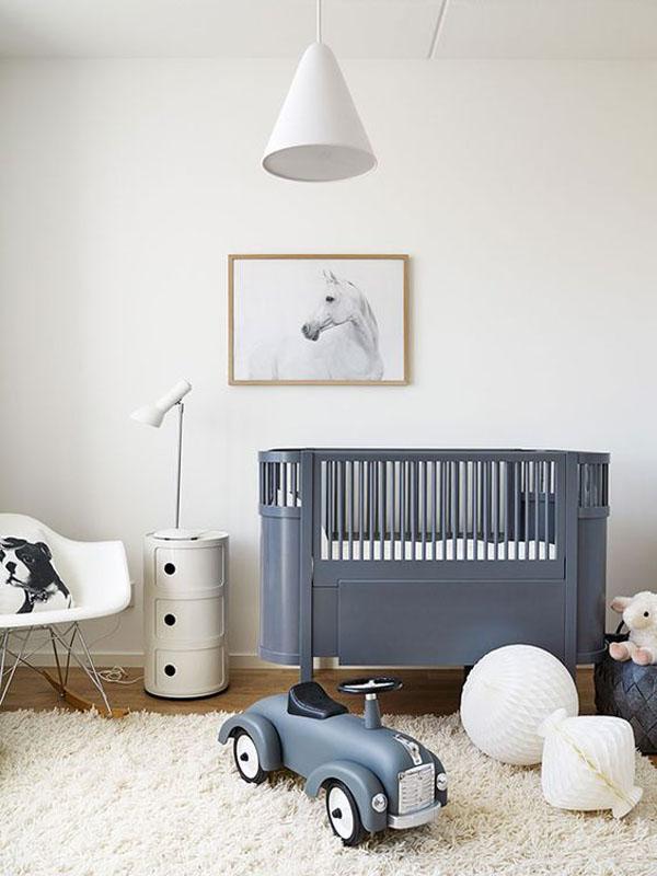 Decorar las paredes del cuarto del bebé con animales
