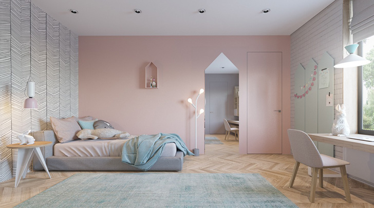 Dos habitaciones infantiles de diseño en tonos soft