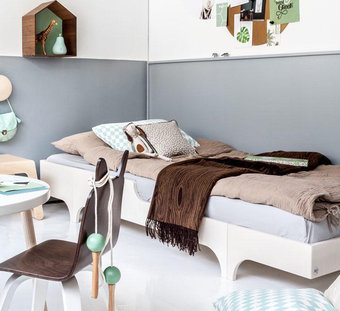 Habitación infantil nórdica inspirada en el bosque