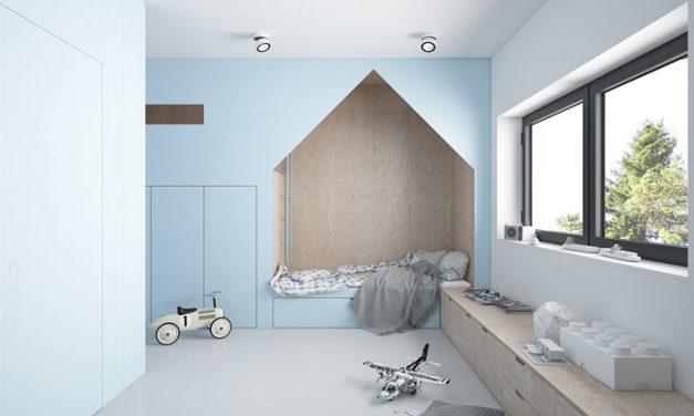 Habitación infantil de diseño en azul