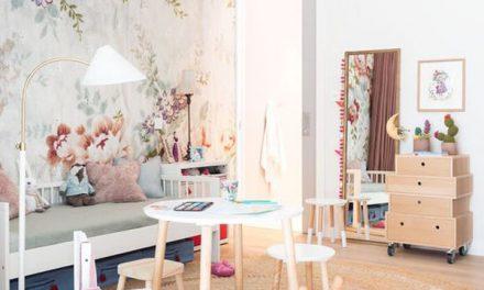Cuando las paredes estampadas hacen tu cuarto infantil más original