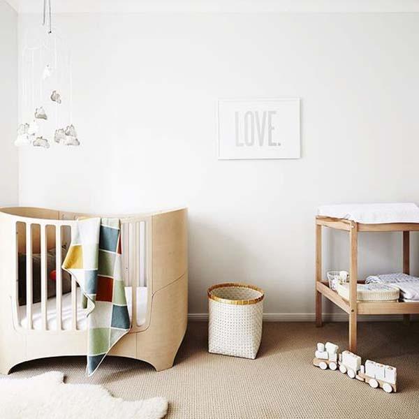 5 Cuartos de bebé en tonos neutros