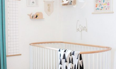 Habitación infantil escandinava con pinceladas turquesa