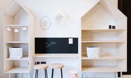 Habitaciones infantiles decoradas solo con madera