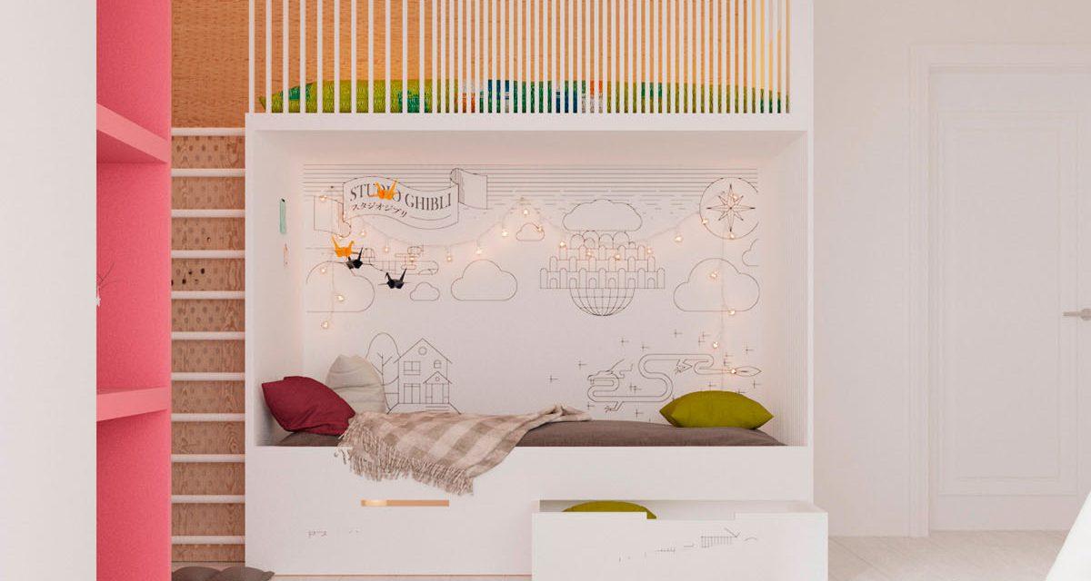 Ideas para decorar un dormitorio infantil con zona de juegos