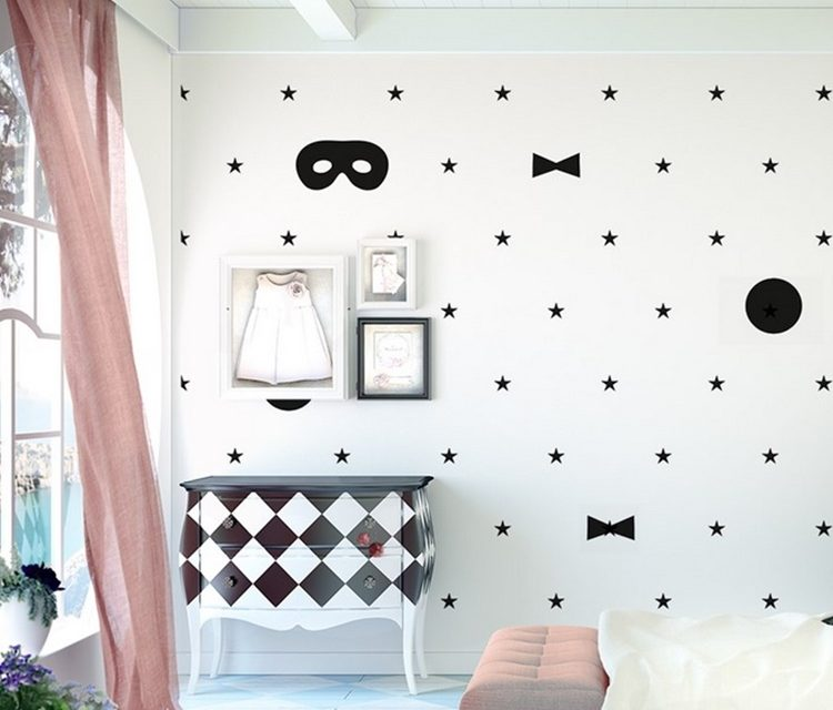 Ideas para decorar una pared infantil sin pintura