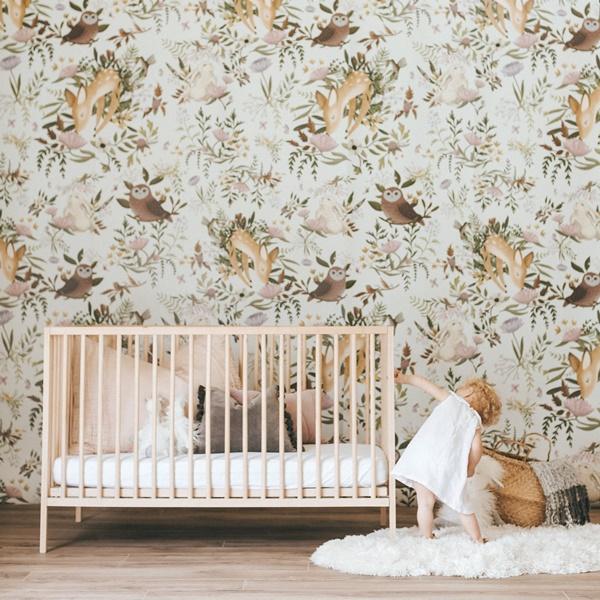 Una habitación infantil romántica