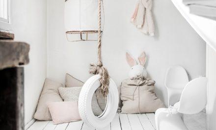 6 ejemplos de columpios en un dormitorio infantil