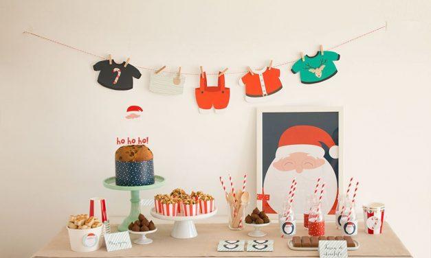 Pack imprimible merienda Santa Claus de La Fiesta de Olivia