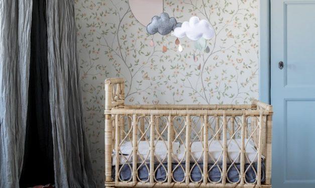 Cunas de mimbre para habitaciones infantiles