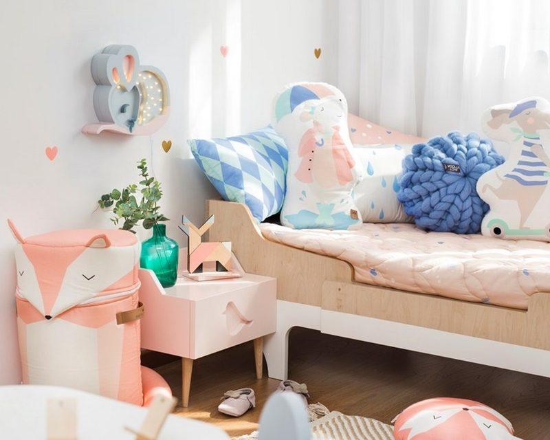 4 habitaciones en color pastel