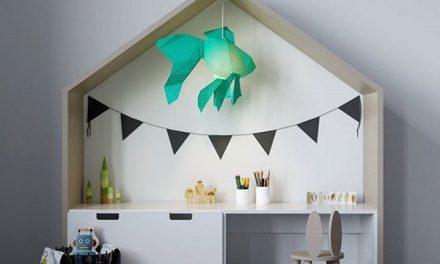 Pantallas de lámparas 3D en papel