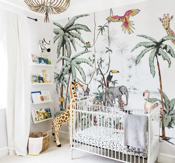 Dormitorio infantil con decoración exótica