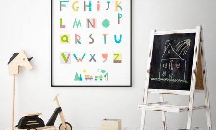 Decoración Montessori con láminas