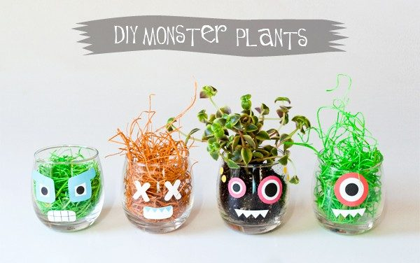 Diy de Halloween: monstruosas plantas