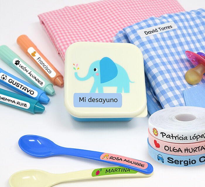 Personaliza las cosas de tu peque con etiquetas personalizadas