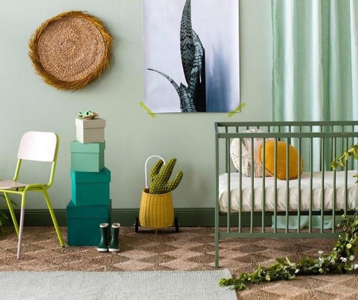 ¡Vamos con el verde! Ideas de decoración para una habitación infantil verde