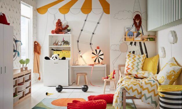 Una habitación de juegos circense de la mano de IKEA