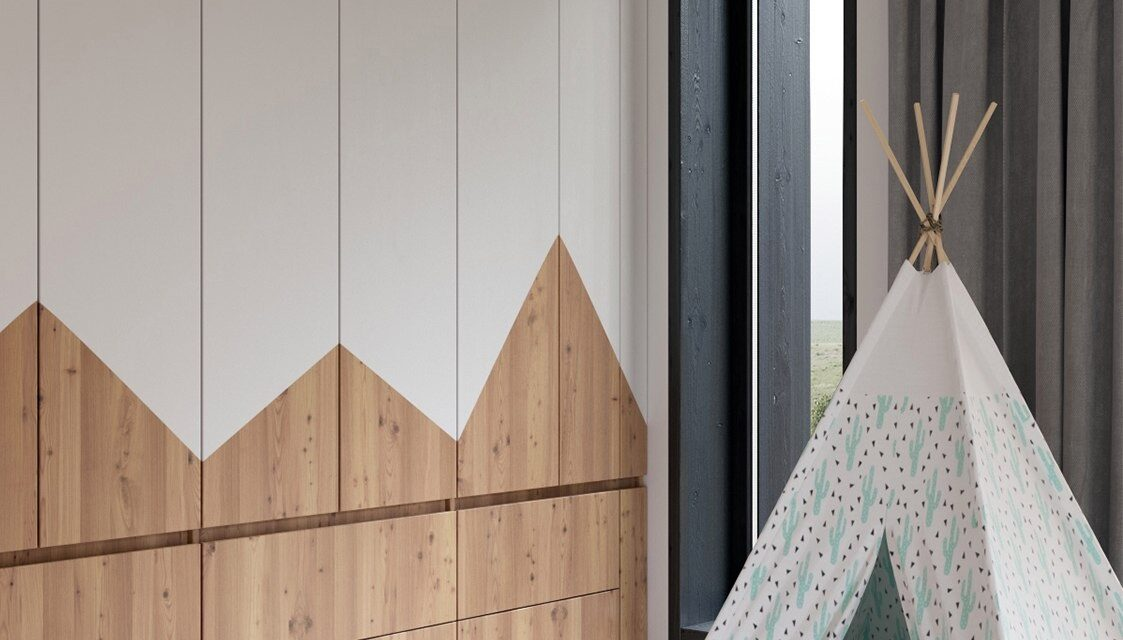 Habitación infantil con toques de madera
