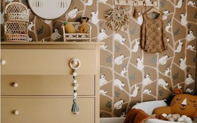 Habitación infantil vintage en Instagram: @_sveasophia_