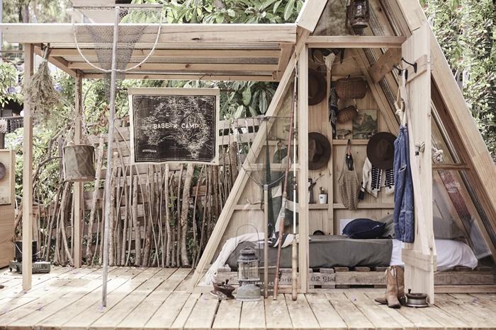 Casitas cubby para niños: una casa elevada de madera
