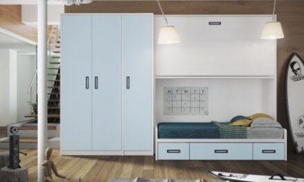 Más espacio en dormitorios infantiles con camas literas abatibles