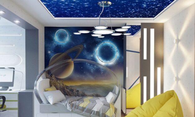 Habitaciones infantiles temáticas: habitación espacial