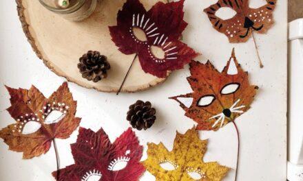 Divertidas manualidades con hojas